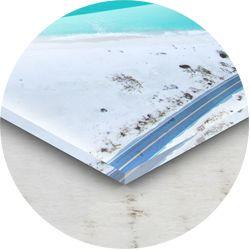 Stampa su pannelli in plexiglas trasparente