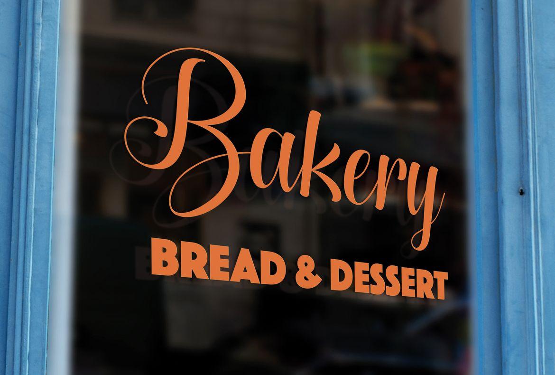 Stampa online 01 scritte tinta unita bakery