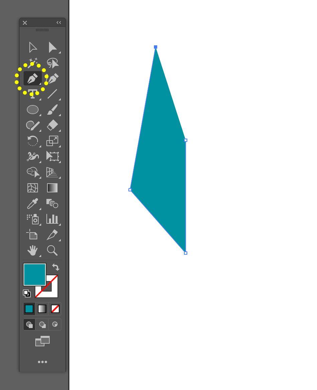Come creare un logo con illustrator: strumento penna