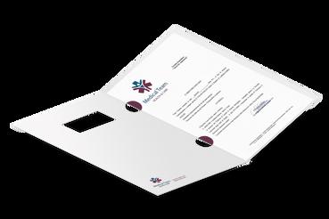 Cartelline per archivio: •  Per raccogliere analisi, report, etc. •  4 template pronti •  Con occhielli e finestra sull'intestazione