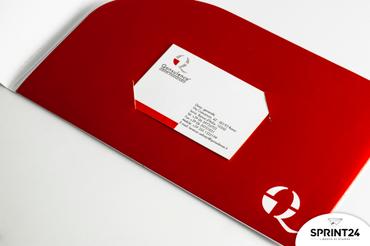 Online printing Qonsulence Folders with pocket