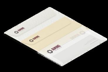 Buste in carta marcata: •  Buste in carta bianca, avorio o goffrate •  Tanti formati e tipologie •  Usate per coordinati aziendali ed inviti