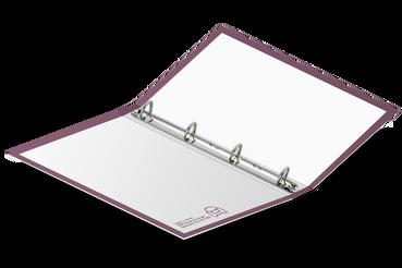 Raccoglitori ad anelli: •  Cartonati con 2 o 4 anelli •  6 formati disponibili •  Esterno completamente personalizzato