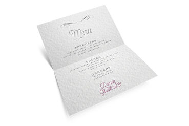 Menu restaurant : Imprimez en Ligne, c'est Avantageux!: Rendez unique la réception de votre mariage. Réalisez avec Sprint24 le menu du restaurant personnalisé pour vos noces.