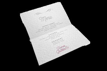 Restaurant menu: Print Online, it's worth it!: Make your wedding reception unique. Realise your customised restaurant menus with Sprint24.