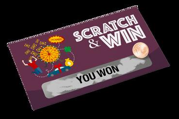 Scratch Card: Stampa Online, Conviene!: Vuoi divertire i tuoi clienti con un gratta e vinci personalizzato? Scegli Sprint24, la tipografia per la stampa online di scratch card a piccoli prezzi!