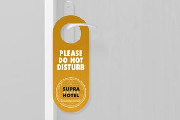 Hangdoor - Do not disturb: * 3 forme tra cui scegliere * Possibilità di nobilitazione * Per hotel, b&b; e strutture simili