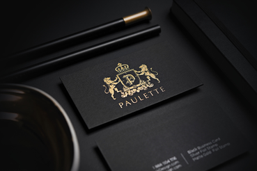 Stampa online carta nera con lavorazione oro