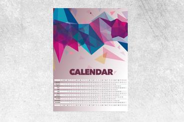 Calendrier Afficher: Créez et Imprimez en Ligne vos Calendriers: Impression calendrier affiche. Configurez et commandez en ligne votre calendrier poster sur Sprint24: personnalisez votre chambre et faites un cadeau utile.