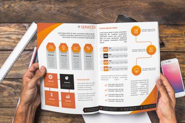 Esempi di brochure aziendali: Tante idee ed esempi per rendere unica la brochure della tua azienda. Prendi spunto dai progetti grafici delle grande aziende!