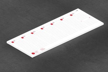 Planning da tavolo: • Perfetto per la scrivania • Per appunti e appuntamenti • 26 o 52 settimane