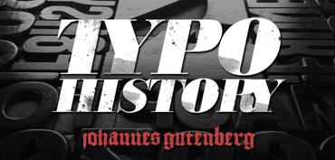 Typo History - Johannes Gutenberg: Una goccia d'inchiostro. Mi piace immaginare così questa rubrica sulla Storia della tipografia e dei grandi tipografi.    Una goccia che si espande sul foglio, così come si espande il tessuto degli avvenimenti storici. Naturalmente, come un organis…