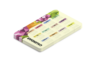 Calendario tascabile: • Sempre a portata di mano • Un anno in tasca • Template pronti