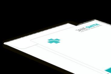 Pochettes pour rapports médicaux: •  Beaucoup de formats différents  •  Impression en couleurs ou noir et blanc •  Gabarits prêts