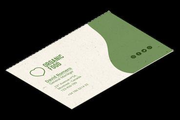 Biglietti da visita Naturali: •  Carte naturali e riciclate •  Particolari e innovativi •  Per un tocco eco
