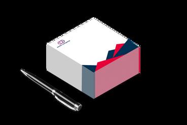 Cubi in carta: •  Blocchi da 500 fogli •  Formati standard 10x10 cm •  Omaggio o sturmento di lavoro