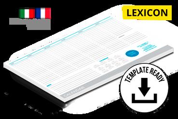 Calendari planning 21x29.7 cm: Modelli di template pronti da scaricare e personalizzare: – Lexicon  Download file Indesign (CC e versioni precedenti) e PDF Alta Risoluzione.  Cerchi delle foto da inserire nel calendario? Prova uno dei nostri set fotografici