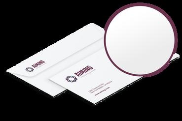 Buste da lettera: •  Vesti le tue comunicazioni •  Formato 11x23 cm con e senza finestra •  A partire da 100 copie