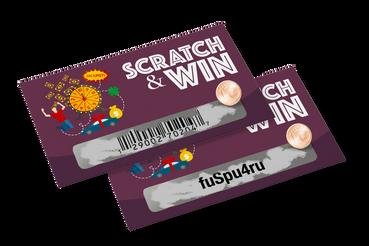 Inventez en ligne vos Cartes à Gratter avec code avec Sprint24: Avec barcode ou code alphanumérique, pour les jeux ou des promotions, personnalisez vos cartes à gratter sur Sprint24: la commodité de la qualité est en ligne