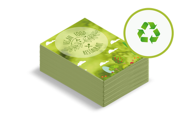 Volantini e cartoline ECO: •  Comunicazione sostenibile •  Carta naturale •  Formati e grammature standard