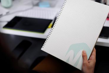 Online printing Metal Spiral Bound Notebook