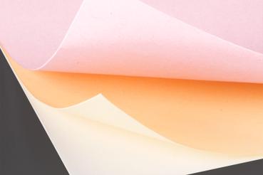 Carta copiativa colorata: Tipo: copiativa Superficie: liscia colorata Spessore: 60 gr Usi: utilizzato per blocchi e fascicoli copiativi Produttore: Eurocalc