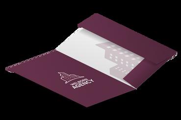 Stampa Cartelline con Alette a Roma: •  Per raccogliere documenti •  10 template pronti •  Pratiche con 2 o 3 alette ad incastro