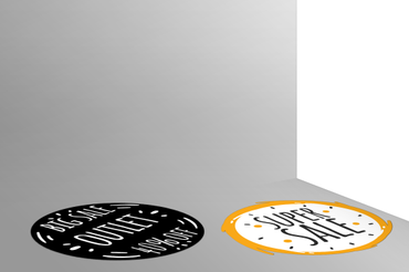 Adhésifs Piétinables: Impression en ligne d'excellente qualité à petits prix.: Imprimer adhésifs piétinables en PVC. Configurez et imprimez en ligne vos adhésifs piétinables, résistants et avec un grand impact visuel et promotionnel.