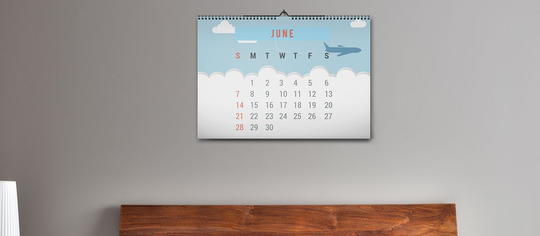 Online printing Wall Calendar Room