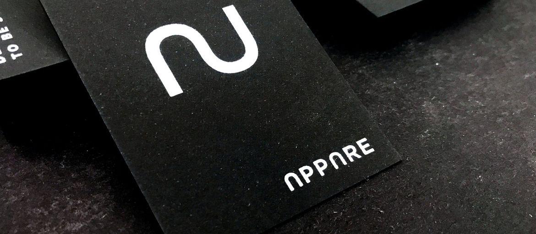 Online printing Cards in black paper, white printing
