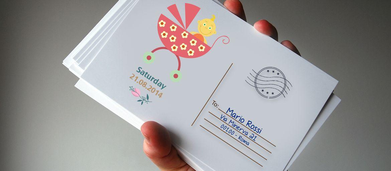Stampa online Invito Baby