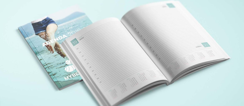 Online printing Paperback agendas - Customised