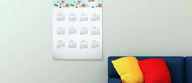 Stampa online Poster Divano: Calendari poster. Una scusa per scrivere sui muri.