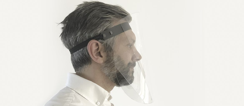 Stampa online visiera protettiva laterale