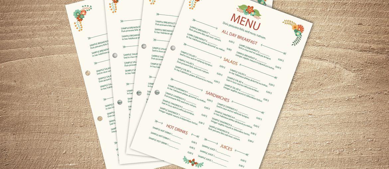 Imprimer en ligne dossiers de menu