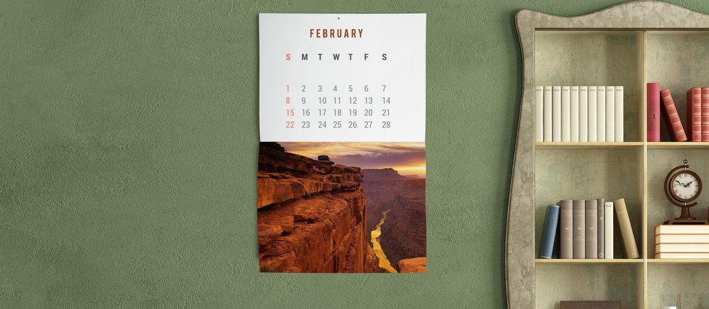 Online printing Calendar Metal Staple Canyon