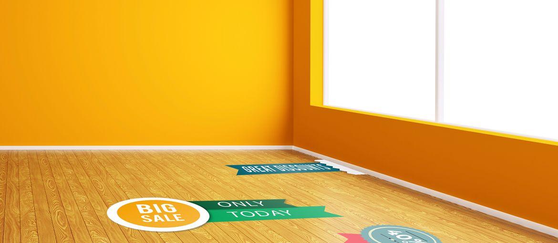 Online printing Walkable adhesives