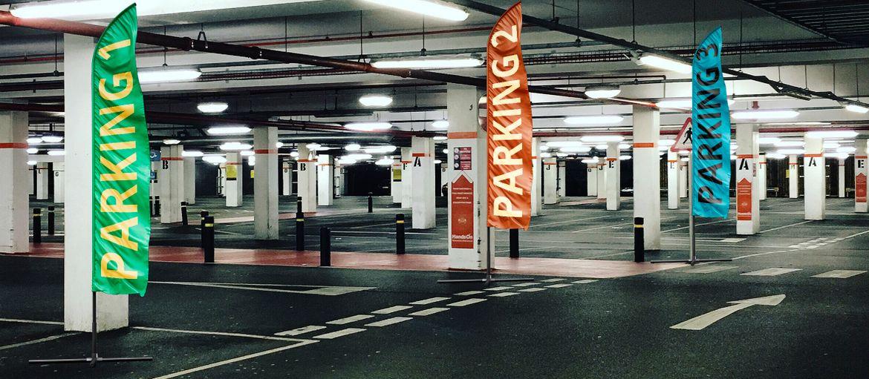 Stampa online bandiera lama parking