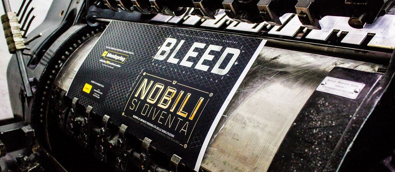 Stampa online Bleed Lavorazione