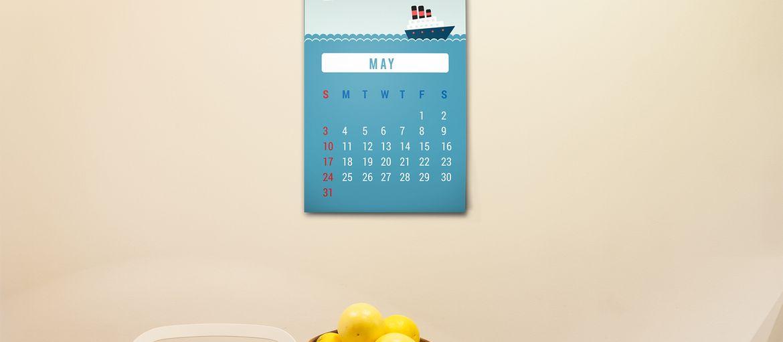 Online printing Wall Calendar Kitchen