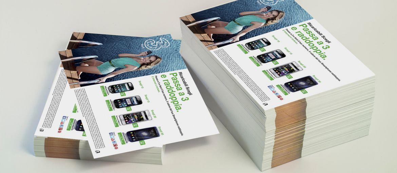 Stampa online Volantino TRE: Stampa: 4 colori Carta: patinata lucida 115 gr