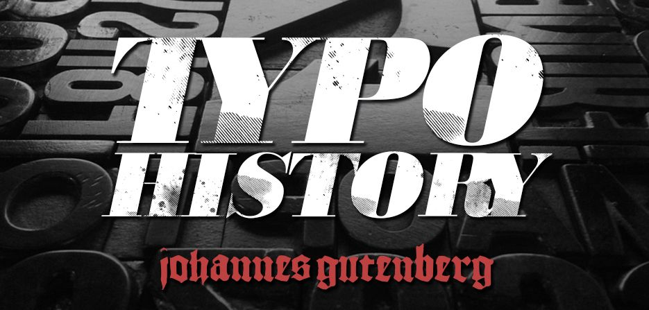 Typo History - Johannes Gutenberg: Una goccia d'inchiostro. Mi piace immaginare così questa rubrica sulla Storia della tipografia e dei grandi tipografi.    Una goccia che si espande sul foglio, così come si espande il tessuto degli avvenimenti storici. Naturalmente, come un orga...