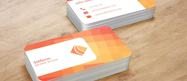Stampa online card arancione