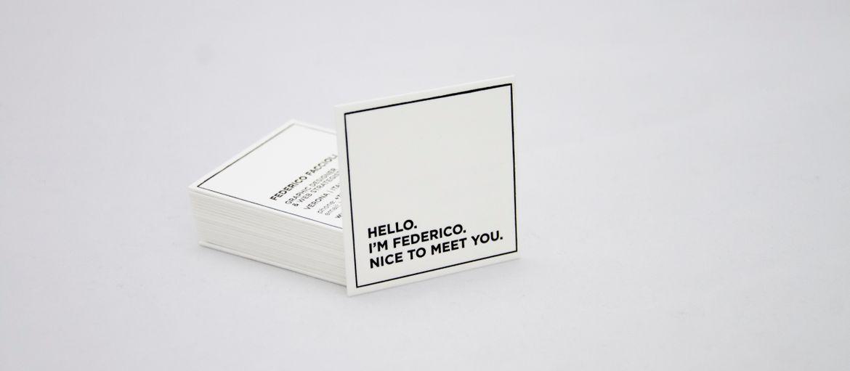 Online printing letterpress card federico