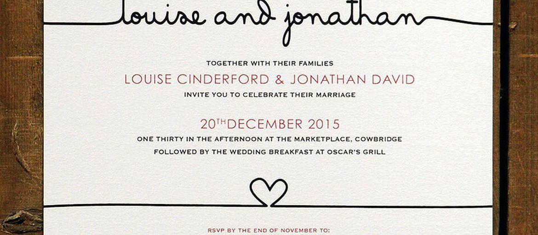 Online printing wedding invitations
