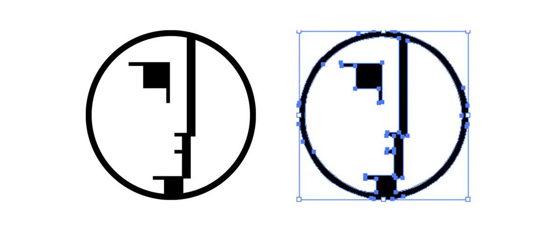 Come vettorializzare un'immagine: Ovvero, come trasformare immagini raster in vettoriali.  Supponiamo di voler rendere vettoriale la seguente immagine:       Importiamo l'immagine all'interno di Adobe Illustrator e selezionate l'imagine con l'apposito strumento di...selezio...