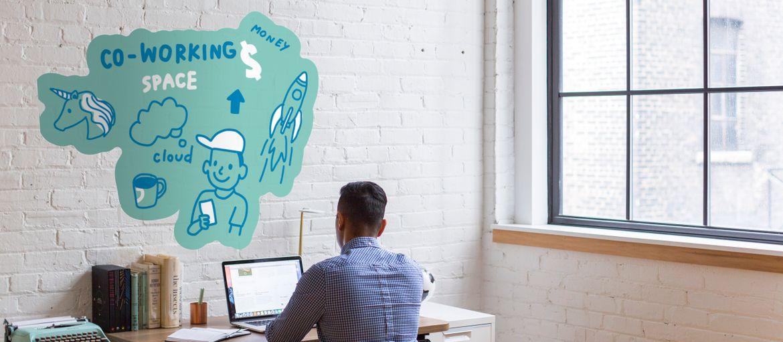 pvc adesivo bianco muri ufficio