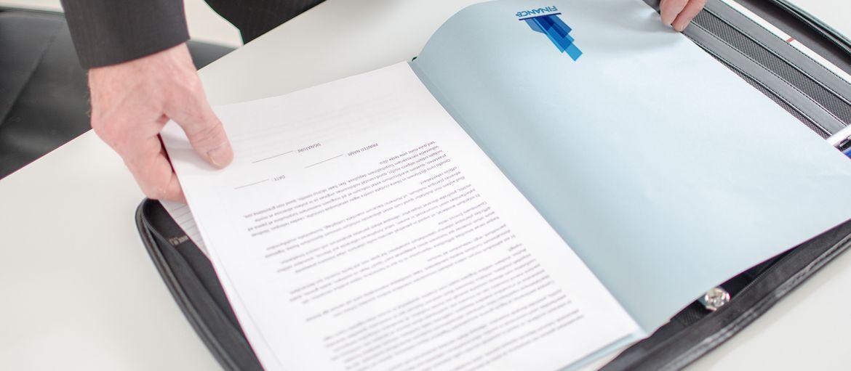 Imprimer en ligne Chemise finance