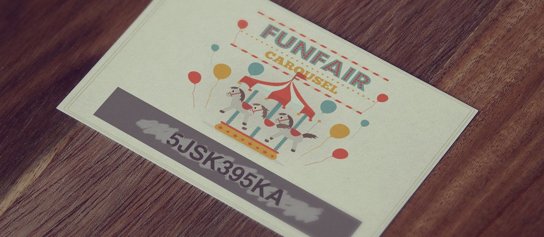Online printing scratch funfair