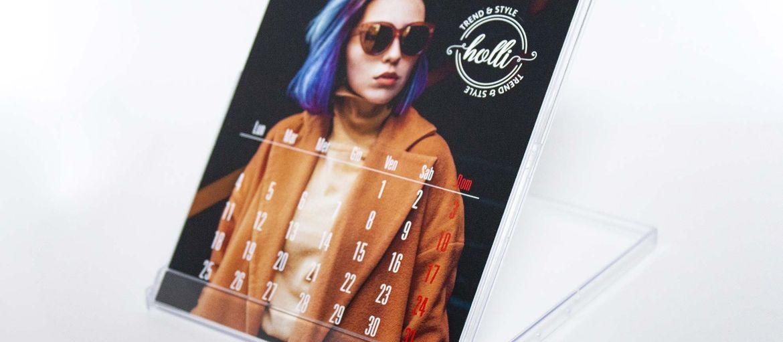 Calendario con basetta fashion